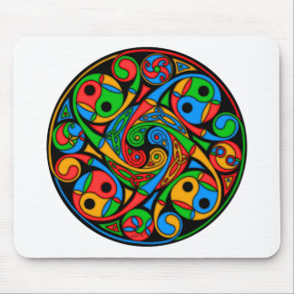 Celtic Stained Glass Spiral Mouse Pad
