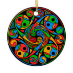 Celtic Stained Glass Spiral Ornament