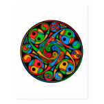 Celtic Stained Glass Spiral Postcard