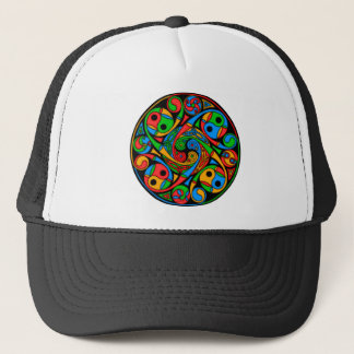 Celtic Stained Glass Spiral Trucker Hat