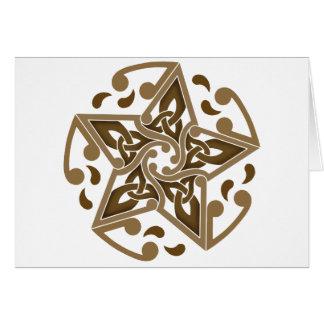 Celtic Star Greeting Card