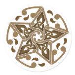 Celtic Star Classic Round Sticker