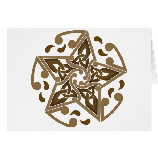 Celtic Star Greeting Card