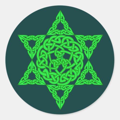 Celtic Star of David Stickers