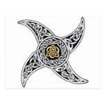 Celtic star post card