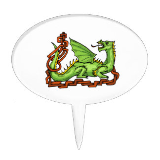 Celtic style dragon and rope.png cake pick