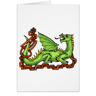 Celtic style dragon and rope.png stationery note card