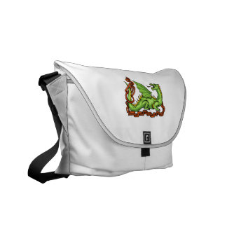 Celtic style dragon and rope.png courier bags