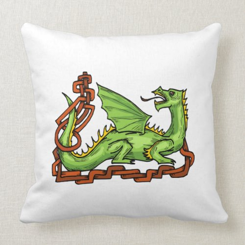 Celtic style dragon and rope