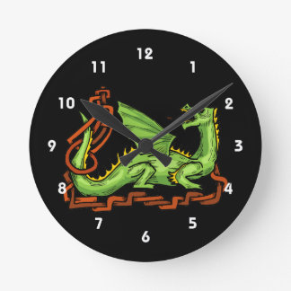 Celtic style dragon and rope.png round wall clocks