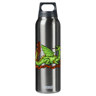 Celtic style dragon and rope.png 16 oz insulated SIGG thermos water bottle