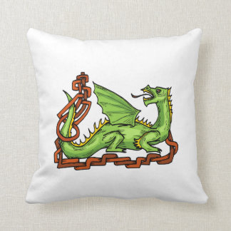 Celtic style dragon and rope.png throw pillow