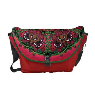 Celtic Summer Fairy Mandala Courier Bag