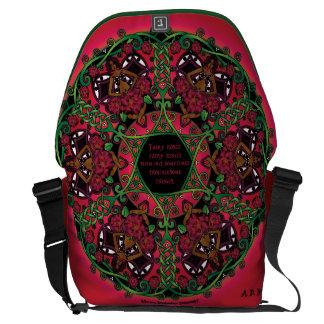 Celtic Summer Fairy Mandala Messenger Bag