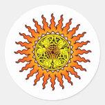 Celtic Sun 2 Pegatinas Redondas
