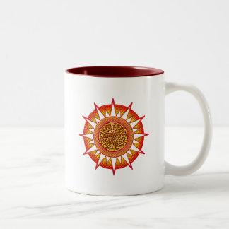 Celtic Sun 3 Two-Tone Coffee Mug