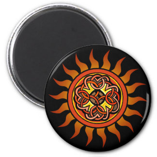 Celtic Sun 4 2 Inch Round Magnet