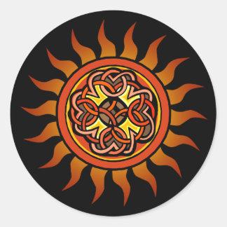 Celtic Sun 4 Classic Round Sticker