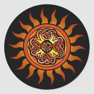 Celtic Sun 4 Pegatina Redonda