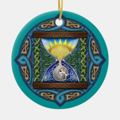 Celtic Sun-Moon Hourglass Ornament