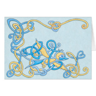 Celtic Swallow Greeting Card