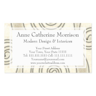 Celtic Swirls Elegant Abstract Letter S Pattern Business Card