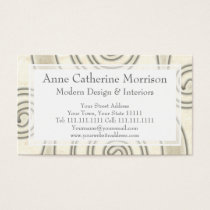Celtic Swirls Elegant Abstract Letter S Pattern Business Card