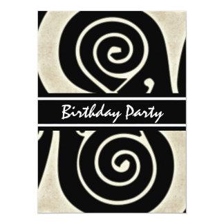 Celtic Swirls Elegant Abstract Letter S Pattern 5.5x7.5 Paper Invitation Card