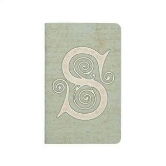 Celtic Swirls Elegant Abstract Letter S Pattern Journal