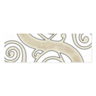 Celtic Swirls Elegant Abstract Letter S Pattern Mini Business Card