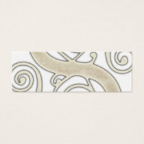 Celtic Swirls Elegant Abstract Letter S Pattern Mini Business Card