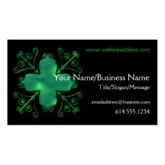 Celtic Swirls Glass Green Design Business Card