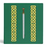 Celtic Sword and Knotwork 3 Ring Binder