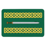 Celtic Sword and Knotwork Magnet