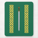 Celtic Sword and Knotwork Mouse Pad