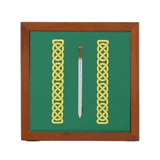 Celtic Sword and Knotwork Pencil Holder
