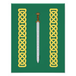 Celtic Sword and Knotwork Photo Print