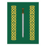Celtic Sword and Knotwork Poster