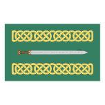 Celtic Sword and Knotwork Rectangular Sticker
