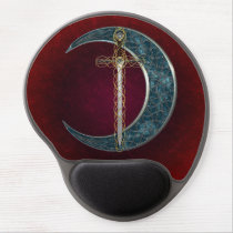 Celtic Sword and Moon Gel Mouse Pad