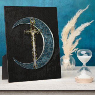 Celtic Sword And Moon Plaque