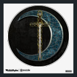 """Celtic Sword and Moon Wall Decal<br><div class=""""desc"""">Celtic Sword surrounded by celtic knots,  Celtic inspired Moon</div>"""