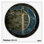 Celtic Sword and Moon Wall Decals