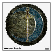 Celtic Sword and Moon Wall Sticker