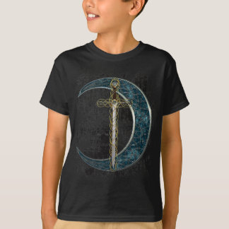 Celtic Sword and Moon with Grunge T-Shirt