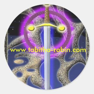 celtic sword classic round sticker