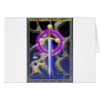 celtic sword greeting card