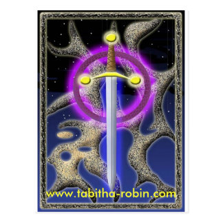 celtic sword postcard