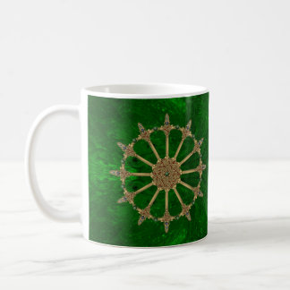 Celtic Swords Emerald Green Marble Coffee Mug