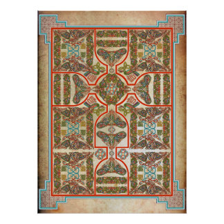 Celtic Symbols Carpet Poster